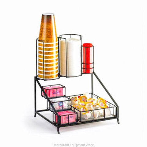 Cal-Mil Plastics 1453 Condiment Caddy Countertop Organizer (Magnified)