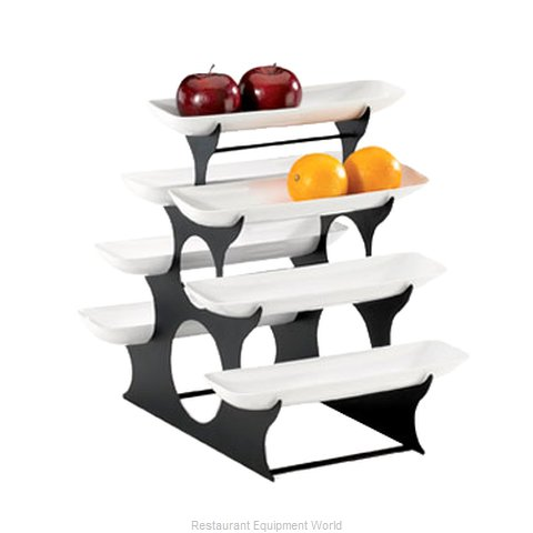 Cal-Mil Plastics 1488 Tiered Display Server Stand (Magnified)