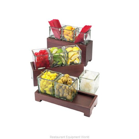 Cal-Mil Plastics 1549-6-52 Condiment Caddy Countertop Organizer (Magnified)
