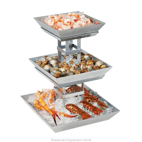 Cal-Mil Plastics 1563-3 Tiered Display Server Stand (Magnified)