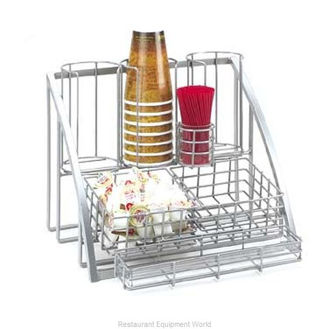 Cal-Mil Plastics 1715-39 Condiment Caddy Countertop Organizer (Magnified)