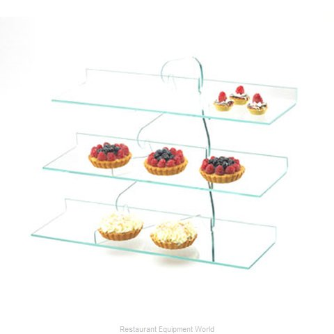 Cal-Mil Plastics 1743 Tiered Display Server Stand (Magnified)