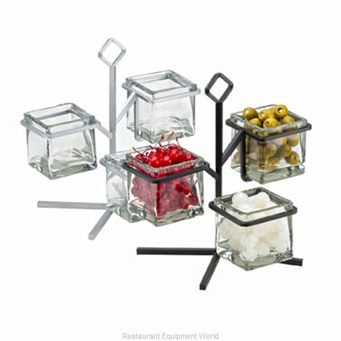 Cal-Mil Plastics 1804-13 Condiment Caddy, Countertop Organizer (Magnified)