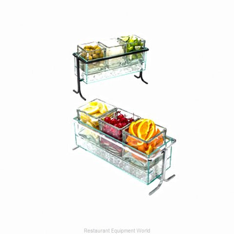 Cal-Mil Plastics 1806-5-39 Condiment Caddy, Countertop Organizer (Magnified)