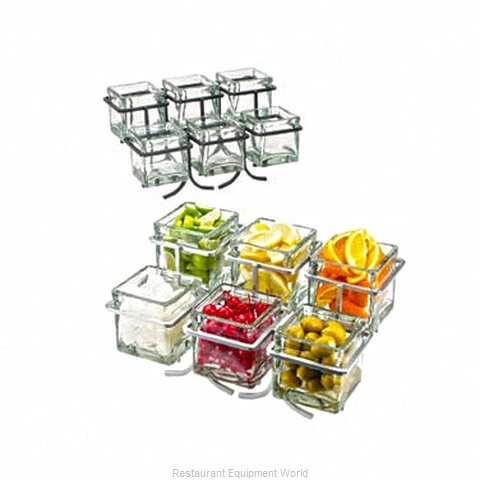 Cal-Mil Plastics 1809-39 Condiment Caddy Countertop Organizer (Magnified)