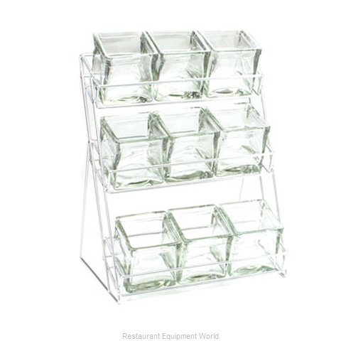 Cal-Mil Plastics 1812-39 Condiment Caddy Countertop Organizer (Magnified)