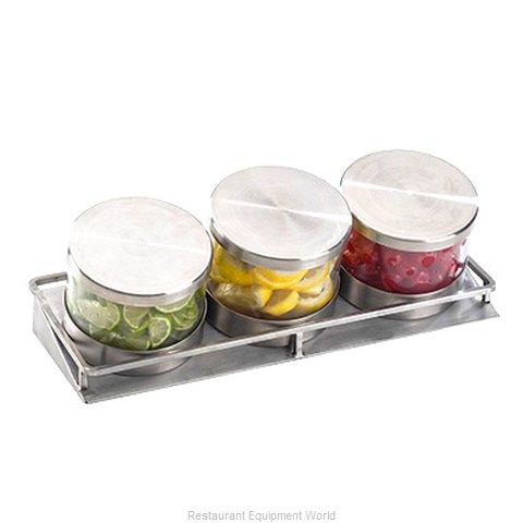Cal-Mil Plastics 1850-4-55 Bar Condiment Server, Countertop