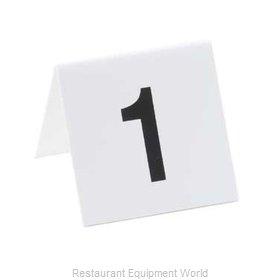 Cal-Mil Plastics 227-2 Tabletop Sign, Tent / Number