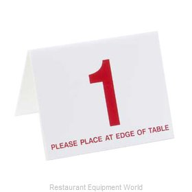 Cal-Mil Plastics 234-1 Tabletop Sign, Tent / Number
