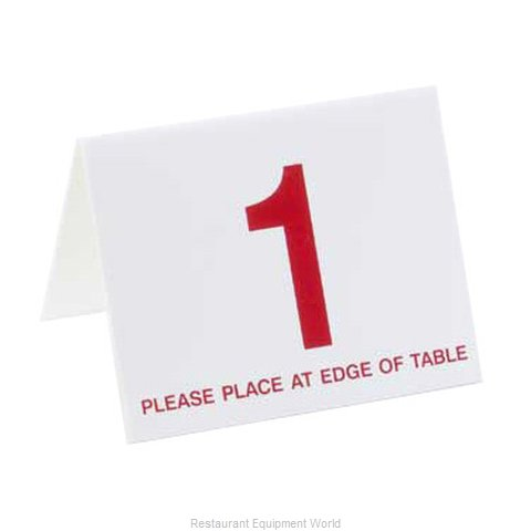 Cal-Mil Plastics 234 Table Tent Message Number