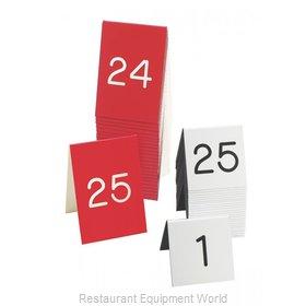Cal-Mil Plastics 269-2 Tabletop Sign, Tent / Number