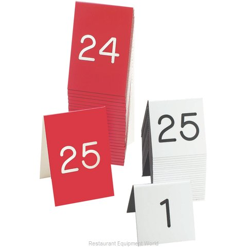Cal-Mil Plastics 269D-1 Table Tent Message Number