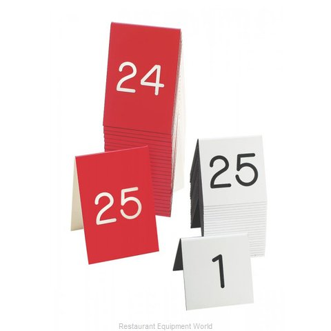 Cal-Mil Plastics 271B-2 Tabletop Sign, Tent / Number