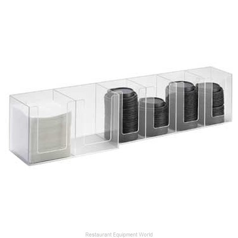 Cal-Mil Plastics 377-12 Condiment Caddy Countertop Organizer (Magnified)