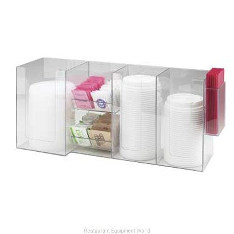 Cal-Mil Plastics 387-12 Condiment Caddy Countertop Organizer (Magnified)