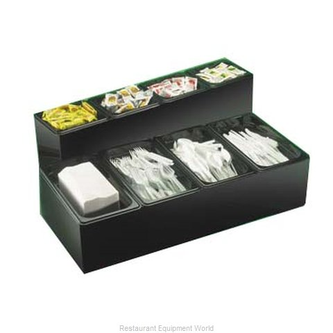 Cal-Mil Plastics 495 Condiment Caddy Countertop Organizer (Magnified)