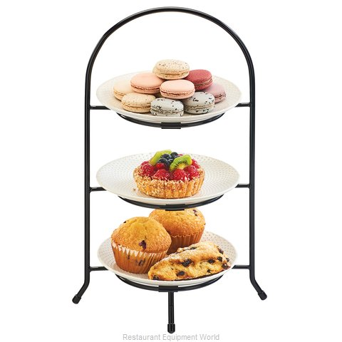 Cal-Mil Plastics 977-8-13 Tiered Display Server Stand (Magnified)