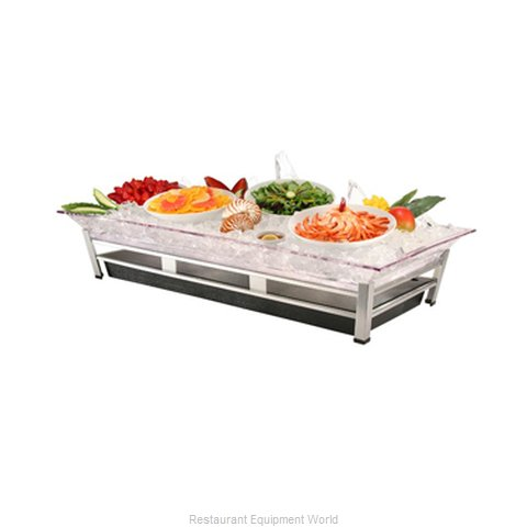 Cal-Mil Plastics IP2020-B Ice Display Tray Decorative