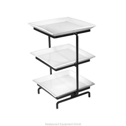 Cal-Mil Plastics SR2300-S Tiered Display Server Stand (Magnified)