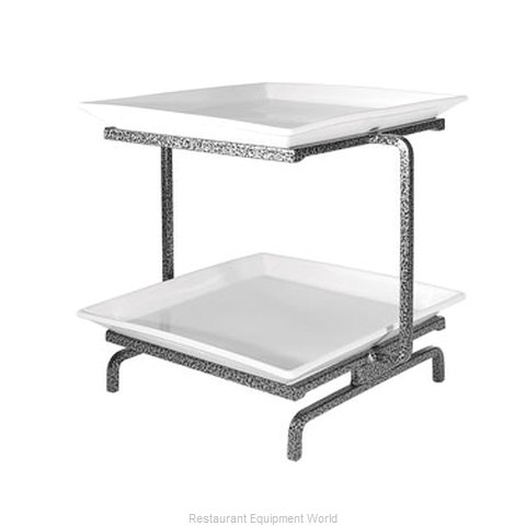 Cal-Mil Plastics SR2314-P Tiered Display Server Stand (Magnified)