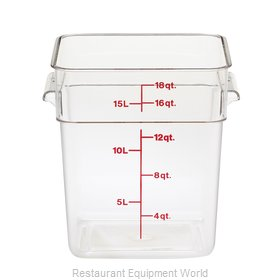 Cambro 18SFSCW135 Food Storage Container, Square