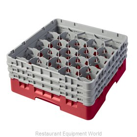 Cambro 20S638163 Dishwasher Rack, Glass Compartment