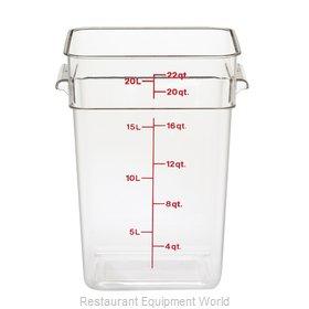 Cambro 22SFSCW135 Food Storage Container, Square