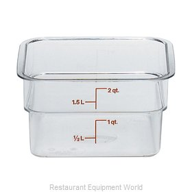 Cambro 2SFSCW135 Food Storage Container, Square