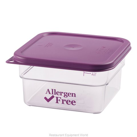 Cambro 2SFSCW441 Food Storage Container, Square (Magnified)