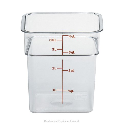 Cambro 4SFSCW135 CamSquare Food Container