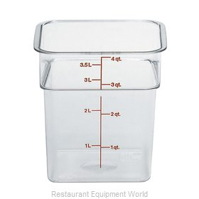 Cambro 4SFSCW135 Food Storage Container, Square