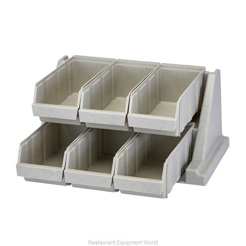 Cambro 6RS6480 Condiment Organizer Bin Rack (Magnified)