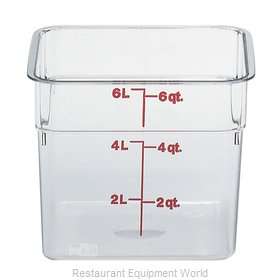 Cambro 6SFSCW135 Food Storage Container, Square