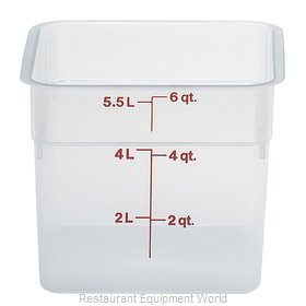 Cambro 6SFSPP190 Food Storage Container, Square