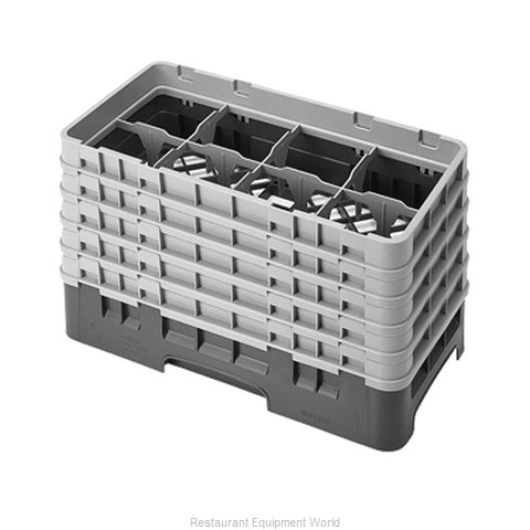 Cambro 8HS958151 Dishwasher Rack Glass Compartment