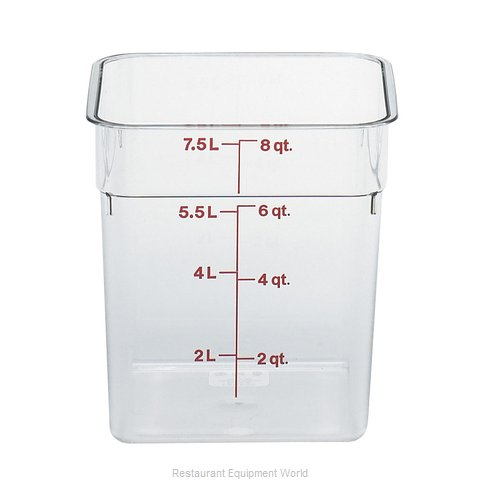 Cambro 8SFSCW135 Food Storage Container, Square (Magnified)