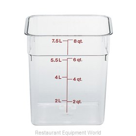 Cambro 8SFSCW135 CamSquare Food Container