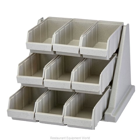 Cambro 9RS9480 Condiment Organizer Bin Rack (Magnified)