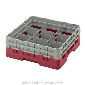 Cambro 9S434416 Dishwasher Rack, Glass Compartment