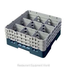 Cambro 9S638414 Dishwasher Rack, Glass Compartment