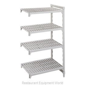 Cambro CPA183684V4PKG Shelving Unit, Plastic with Poly Exterior Steel Posts