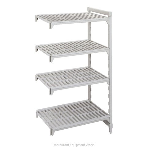 Cambro CPA187264V4PKG Shelving Unit, Plastic with Poly Exterior Steel Posts