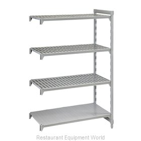 Cambro CPA187272VS4PKG Shelving Unit, Plastic with Poly Exterior Steel Posts