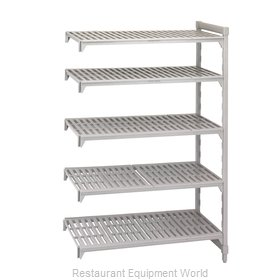 Cambro CPA212472V5480 Shelving Unit, Plastic with Poly Exterior Steel Posts