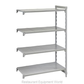Cambro CPA245484S4PKG Shelving Unit, Plastic with Poly Exterior Steel Posts