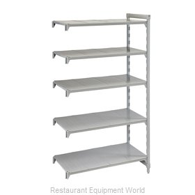 Cambro CPA245484S5PKG Shelving Unit, Plastic with Poly Exterior Steel Posts