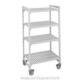 Cambro CPHU244267S4480 Shelving Unit, Plastic with Poly Exterior Steel Posts