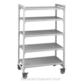 Cambro CPMU214875V5480 Shelving Unit, Plastic with Poly Exterior Steel Posts