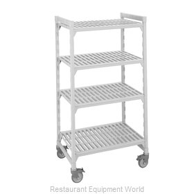 Cambro CPMU244275V4480 Shelving Unit, Plastic with Poly Exterior Steel Posts