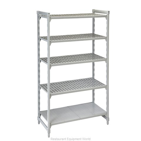 Cambro CPU182484VS5PKG Shelving Unit, Plastic with Poly Exterior Steel Posts